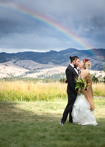 A creative, funky Montana Wedding