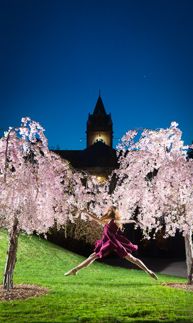 dancer leaping at university of montana